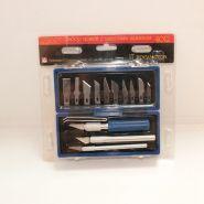 Набор ножей с цанговым зажимом (алюминий), 17 предметов